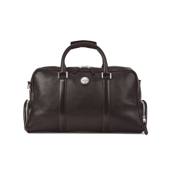 Aerodrome 48 Hour Mission Bag in Dark Brown Pebble from Aspinal of London