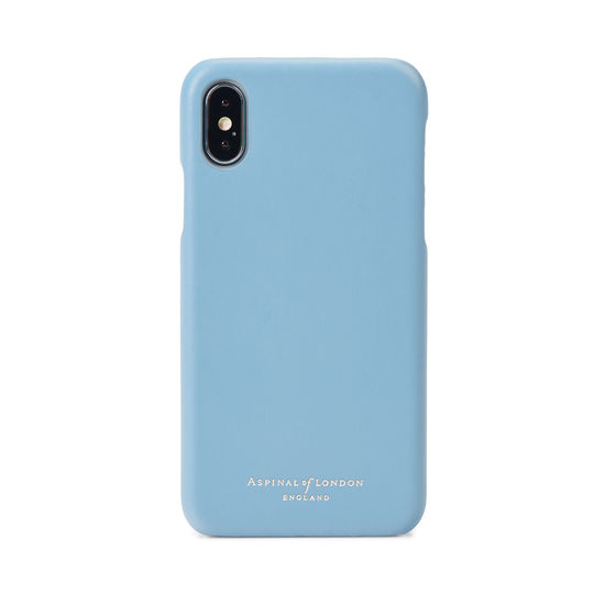 iPhone X Leather Cover in Smooth Bluebird from Aspinal of London