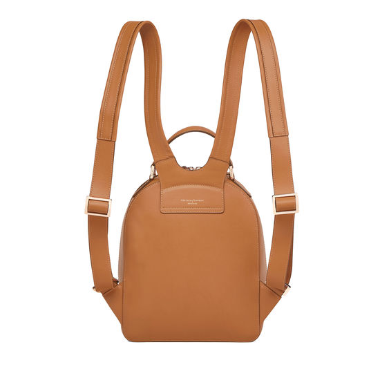 Small Mount Street Backpack in Smooth Tan from Aspinal of London