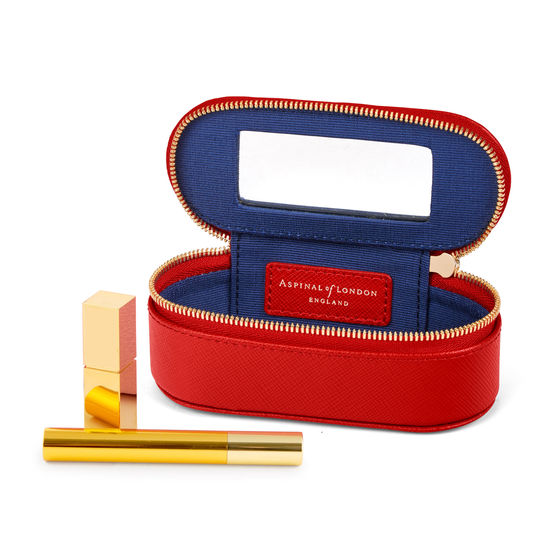 Handbag Tidy All in Scarlet Saffiano from Aspinal of London