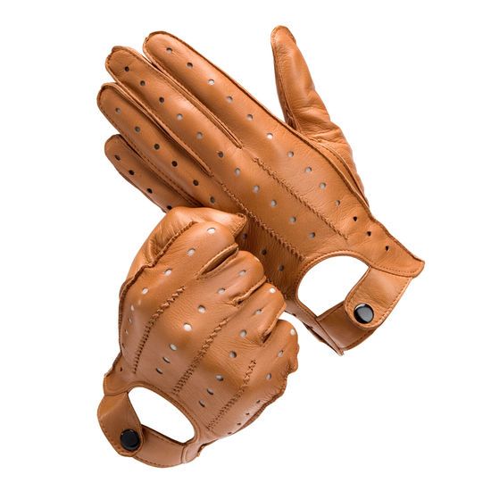 Men's Leather Driving Gloves in Tan from Aspinal of London