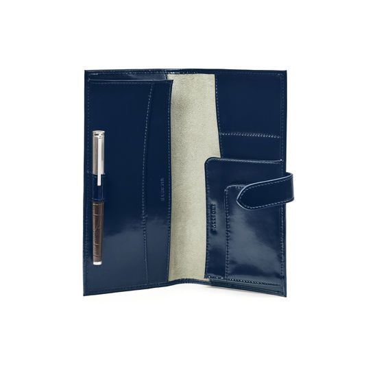 Lindbergh Travel Wallet in Bluemoon Polish from Aspinal of London