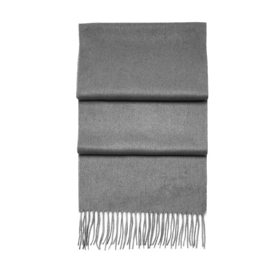 Pure Cashmere Scarf in Mid-Grey from Aspinal of London