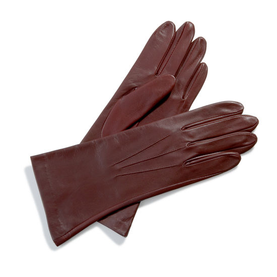 Ladies' Cashmere Lined Leather Gloves in Brown from Aspinal of London