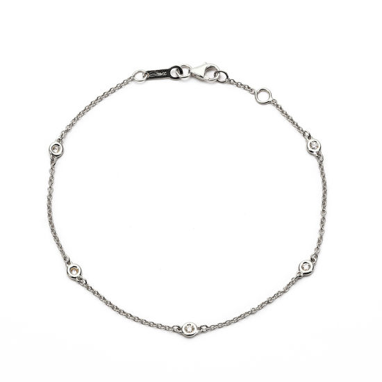 Celeste 18ct White Gold Diamond Bracelet from Aspinal of London