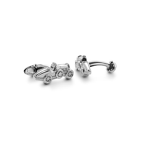 Sterling Silver Classic Car Cufflinks from Aspinal of London