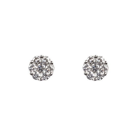 Monaco 0.50ct. Diamond Cluster Stud Earrings from Aspinal of London