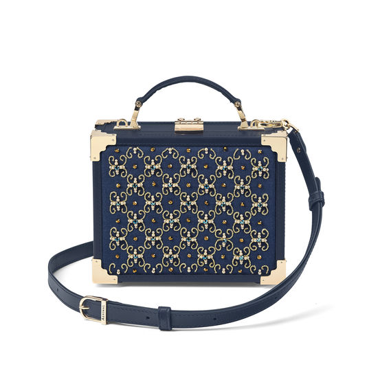 The Trunk in Navy Beaded from Aspinal of London