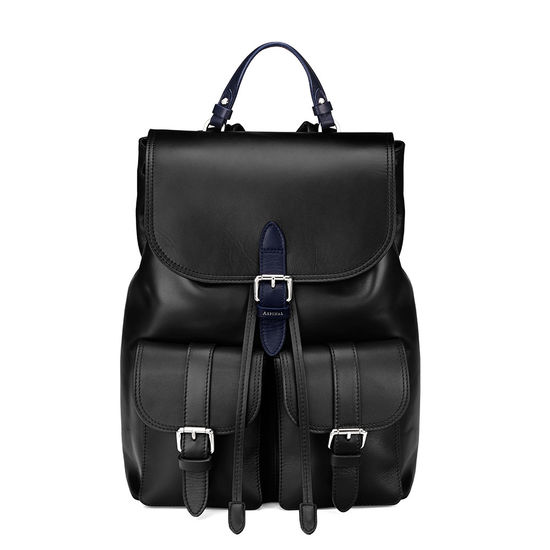 Oxford Backpack in Smooth Black from Aspinal of London