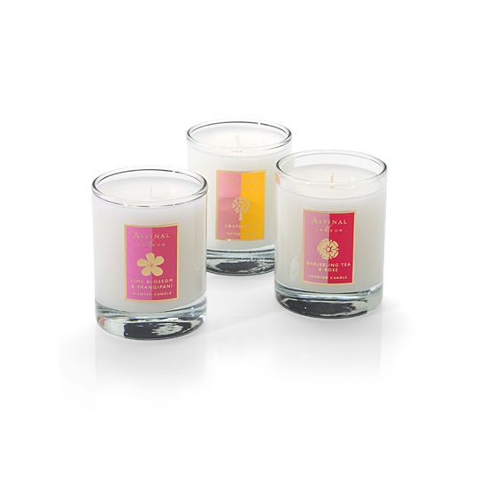 Candle Trio in Darjeeling, Frangipani, Grapefruit from Aspinal of London