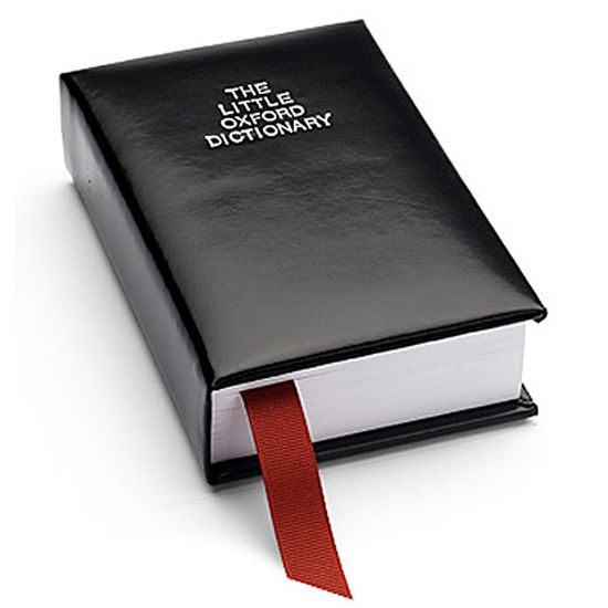 Oxford English Dictionary in Smooth Black from Aspinal of London
