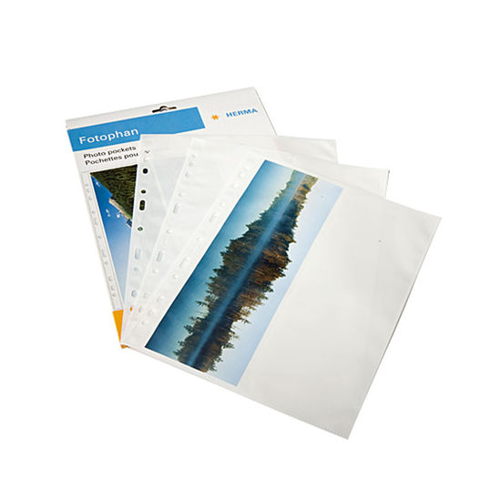 Panoramic Herma Photo Pockets (2 per side) - White from Aspinal of London