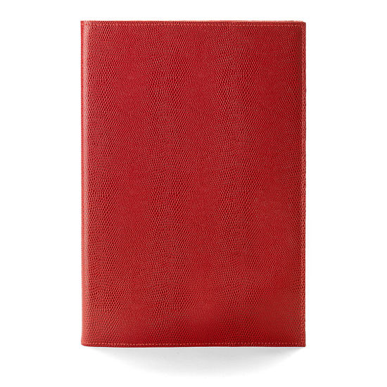 A4 Refillable Journal in Berry Lizard from Aspinal of London
