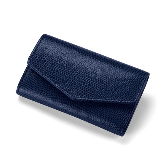 Ladies Manicure Set in Midnight Blue Lizard from Aspinal of London