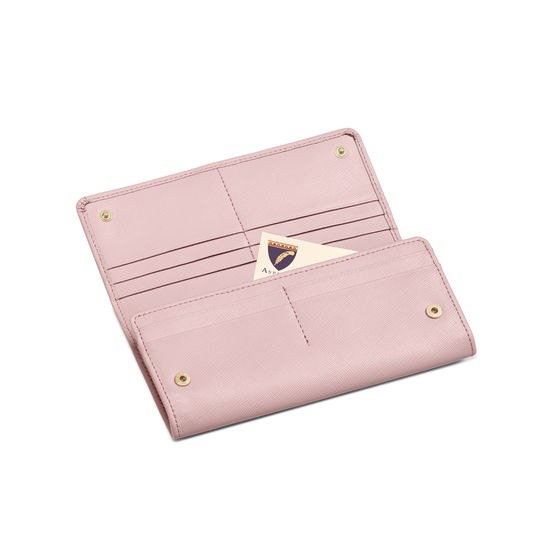 Lottie Purse in Peony Saffiano from Aspinal of London