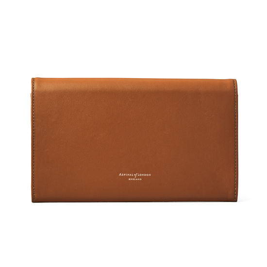 Classic Travel Wallet in Smooth Tan from Aspinal of London