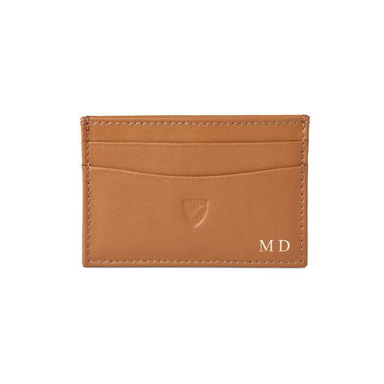 Slim Credit Card Case in Smooth Tan from Aspinal of London