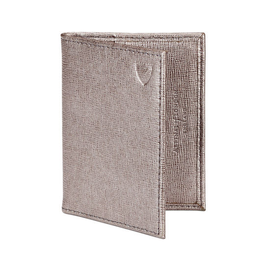 ID & Credit Card Case in Gunmetal Saffiano from Aspinal of London