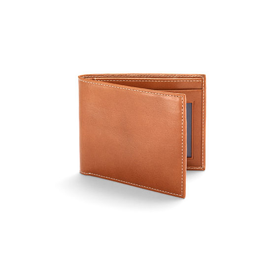 Buy the Aspinal Billfold ID Wallet in Smooth London Tan - Fast Delivery