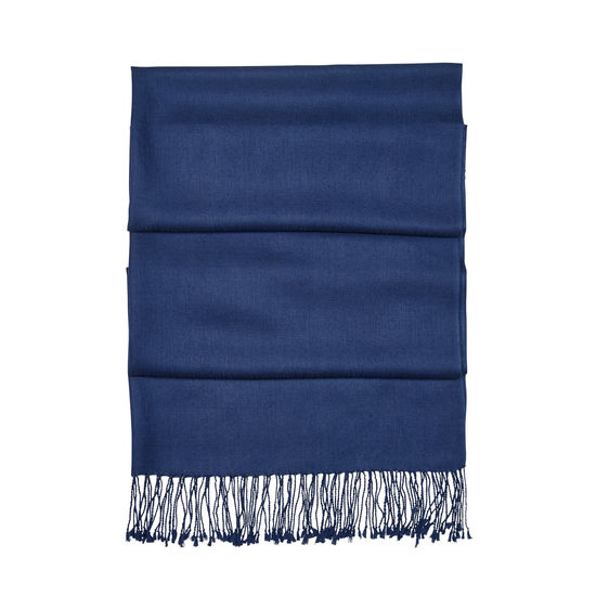 Essential Silk & Cashmere Pashmina in Navy from Aspinal of London