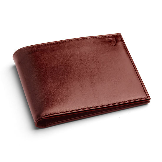 Billfold Coin Wallet in Smooth Cognac & Espresso Suede from Aspinal of London