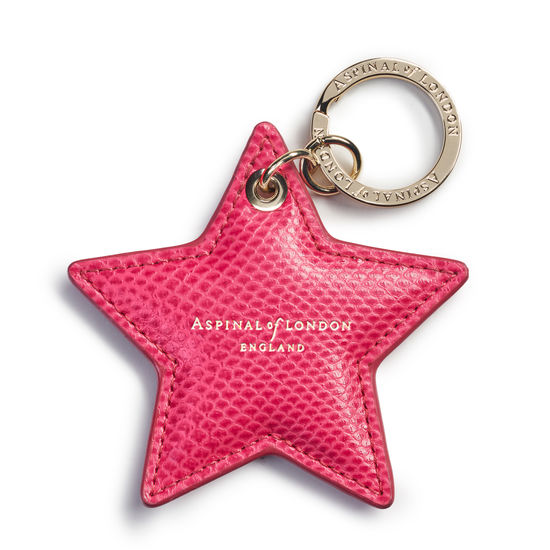 Star Keyring in Raspberry Lizard from Aspinal of London