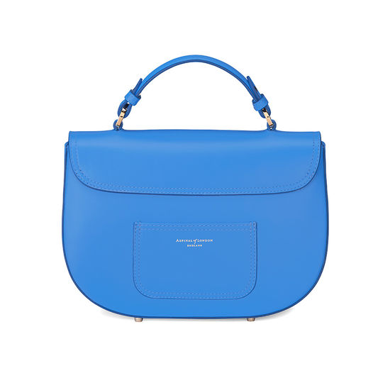 Letterbox Saddle Bag in Smooth Forget Me Not from Aspinal of London