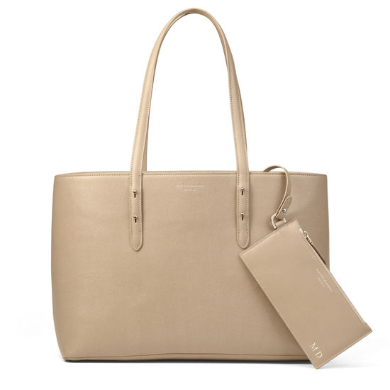 Regent Tote in Deer Saffiano from Aspinal of London