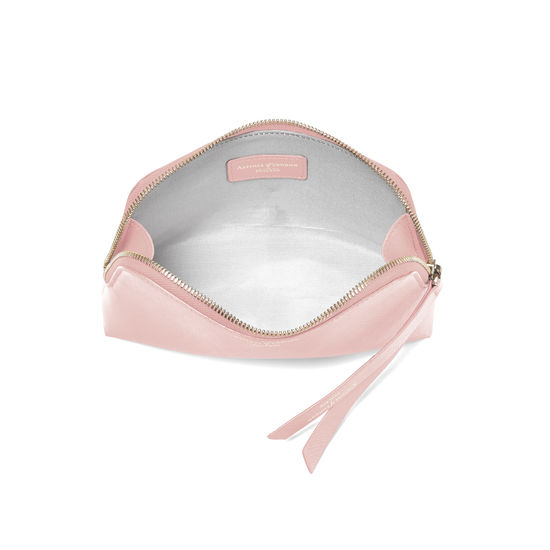 Small Essential Cosmetic Case in Peony Saffiano from Aspinal of London