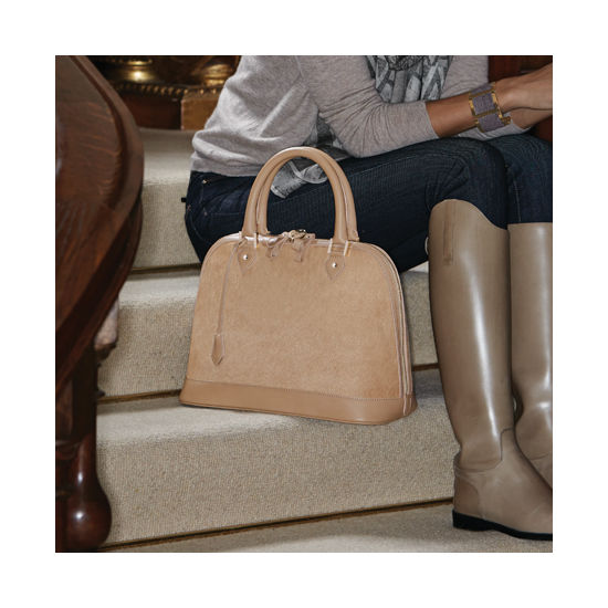 Hepburn Bag in Deer Saffiano from Aspinal of London