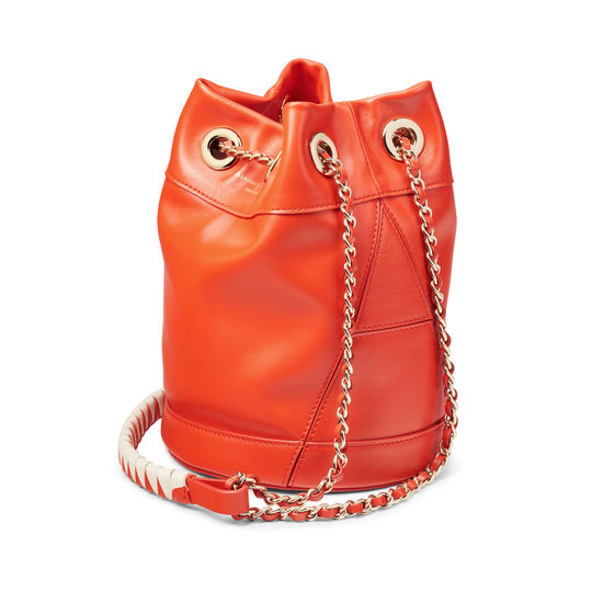 Duffle Bag in Smooth Orange from Aspinal of London