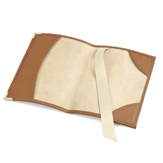 Passport Cover in Smooth Tan from Aspinal of London