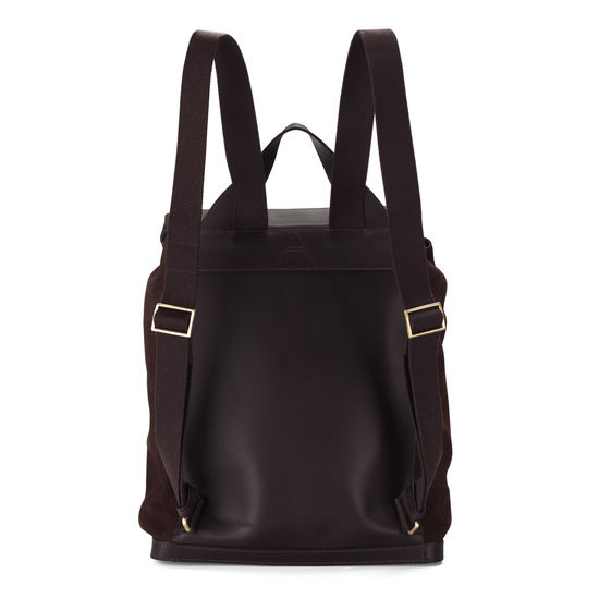 Shadow Rucksack in Brown Nubuck from Aspinal of London