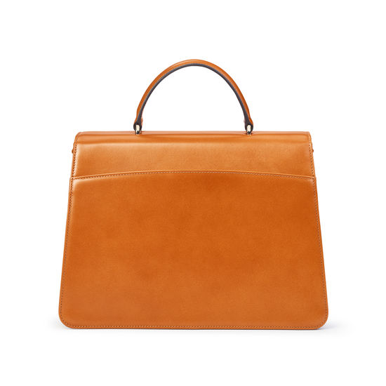 Large Lion Lansdowne Bag in Smooth Tan from Aspinal of London