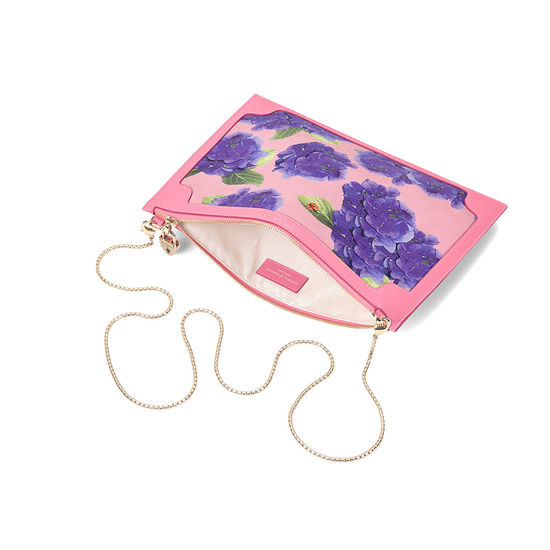 Beautiful Soul Soho Clutch in Smooth Blossom & Hydrangea Print from Aspinal of London
