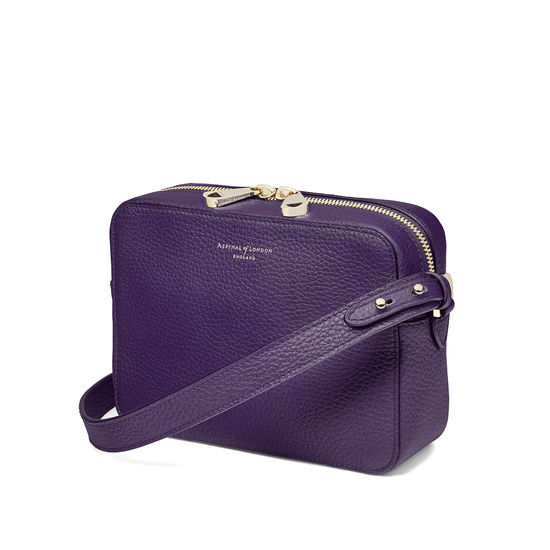 Camera Bag in Amethyst Pebble from Aspinal of London