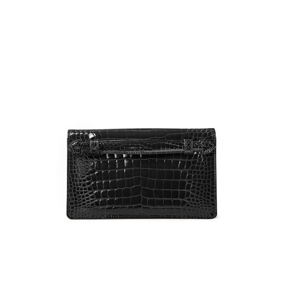 Ava Bag in Black Patent Croc from Aspinal of London