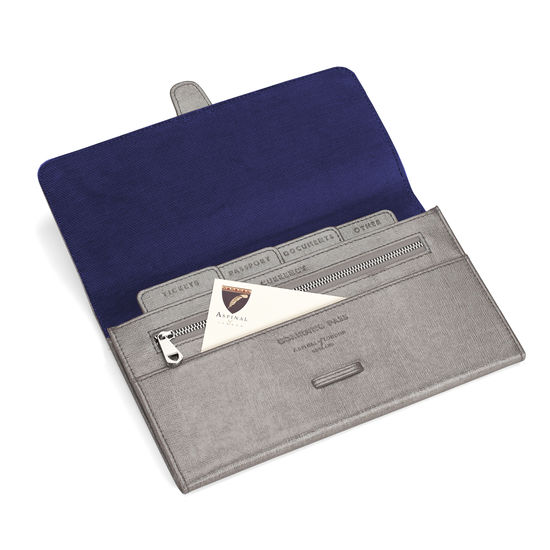 Classic Travel Wallet in Gunmetal Saffiano from Aspinal of London