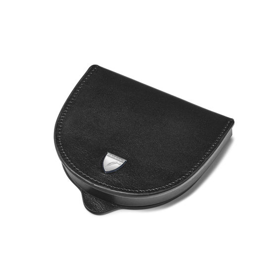 Horseshoe Coin Holder in Smooth Black from Aspinal of London