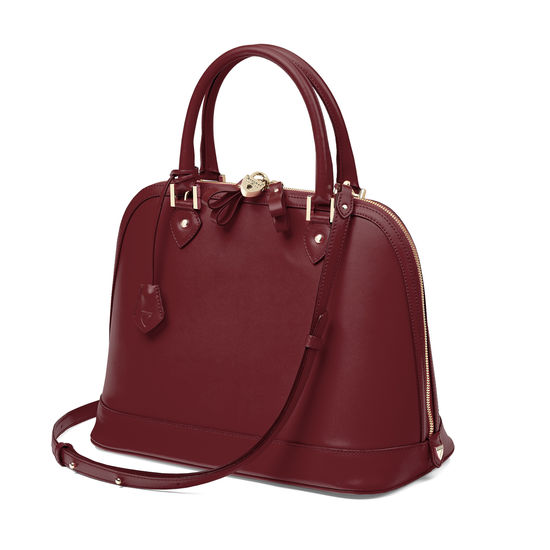 Hepburn Bag in Smooth Burgundy from Aspinal of London