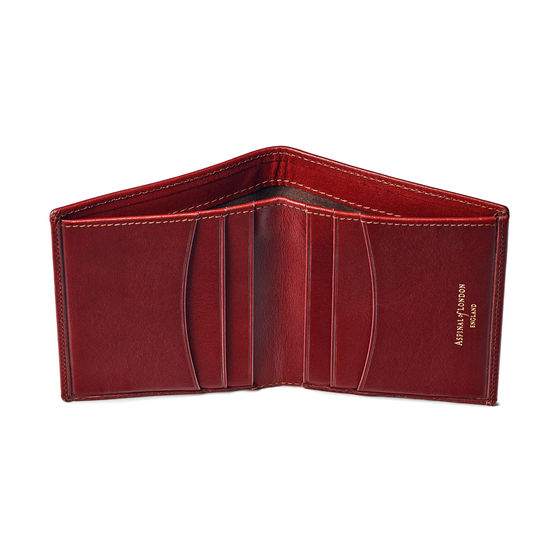 Credit Card Wallet with Notes Pocket in Smooth Cognac from Aspinal of London