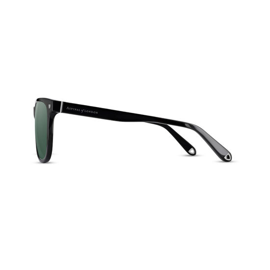 Milano Sunglasses (Black Acetate) from Aspinal of London