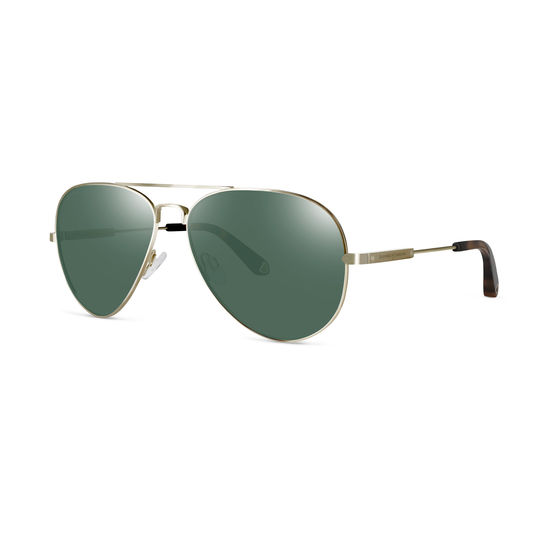 Navigator Sunglasses in Gold Metal from Aspinal of London