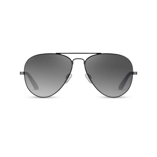 Navigator Sunglasses in Matte Black Metal from Aspinal of London