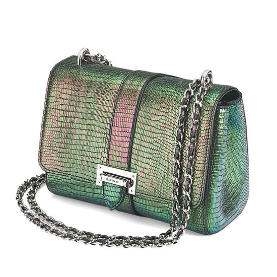 Small Lottie Bag in Iridescent Dragonfly from Aspinal of London