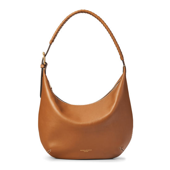 Equestrian Hobo in Smooth Tan from Aspinal of London