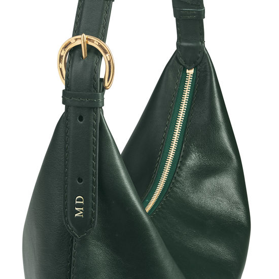 Equestrian Hobo in Smooth Evergreen from Aspinal of London
