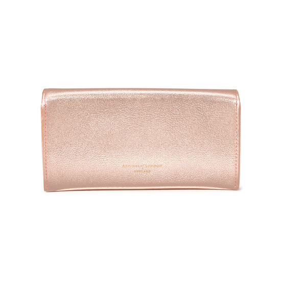 Sunglasses Case in Rose Gold Metallic from Aspinal of London