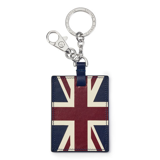 Brit Flag Key Ring from Aspinal of London