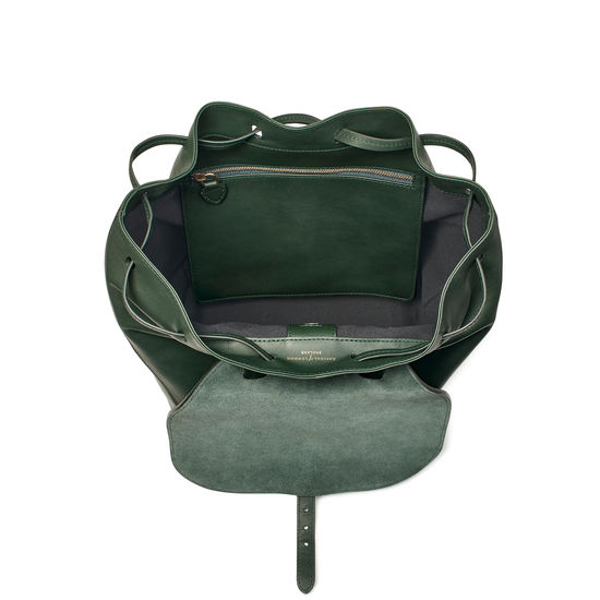 Equestrian Backpack in Smooth Evergreen from Aspinal of London